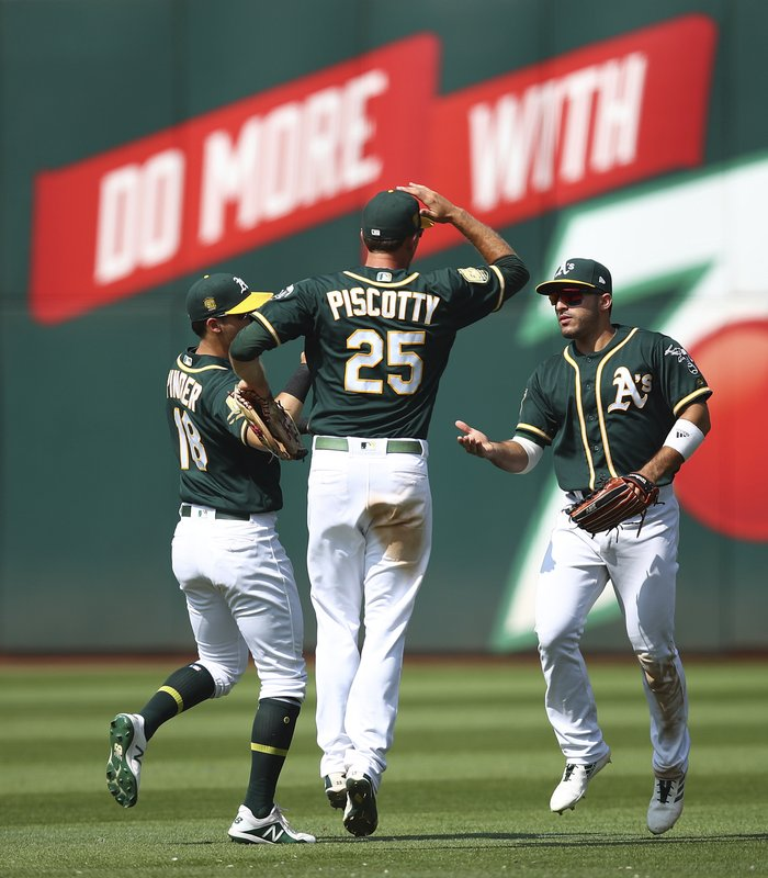 Ramon Laureano, Stephen Piscotty, Chad Pinder