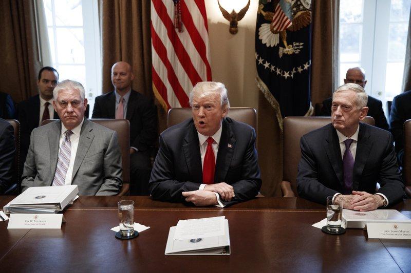 Donald Trump, Jim Mattis, Rex Tillerson