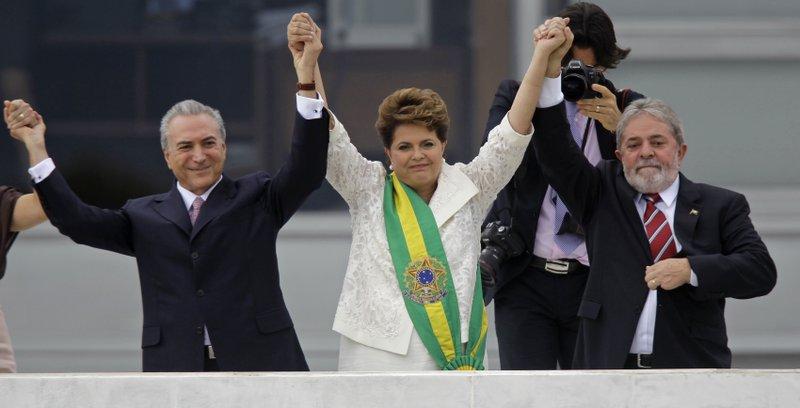 Michel Temer, Dilma Rousseff, Luiz Inacio Lula da Silva