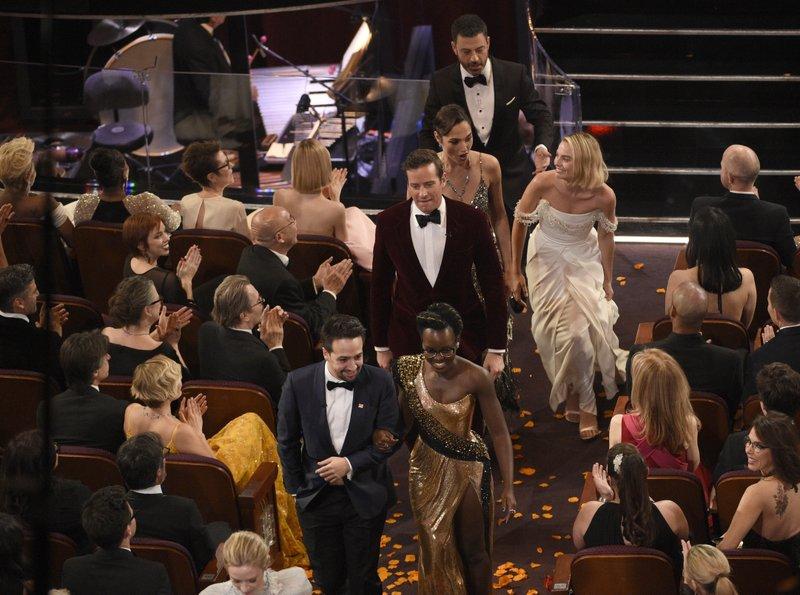 Lin-Manuel Miranda, Lupita Nyong'o, Armie Hammer, Gal Gadot, Jimmy Kimmel, Margot Robbie