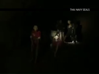 First Video of Thailand Team Found Alive in Cave