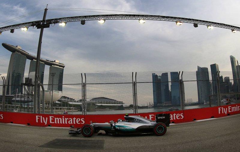 Circuito Callejero De Marina Bay : Rosberg conquista la pole del gran premio de singapur