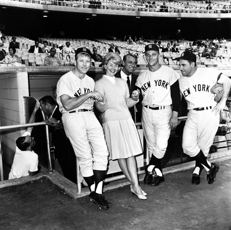 Doris Day, Cary Grant, Roger Maris, Yogi Berra, Mickey Mantle