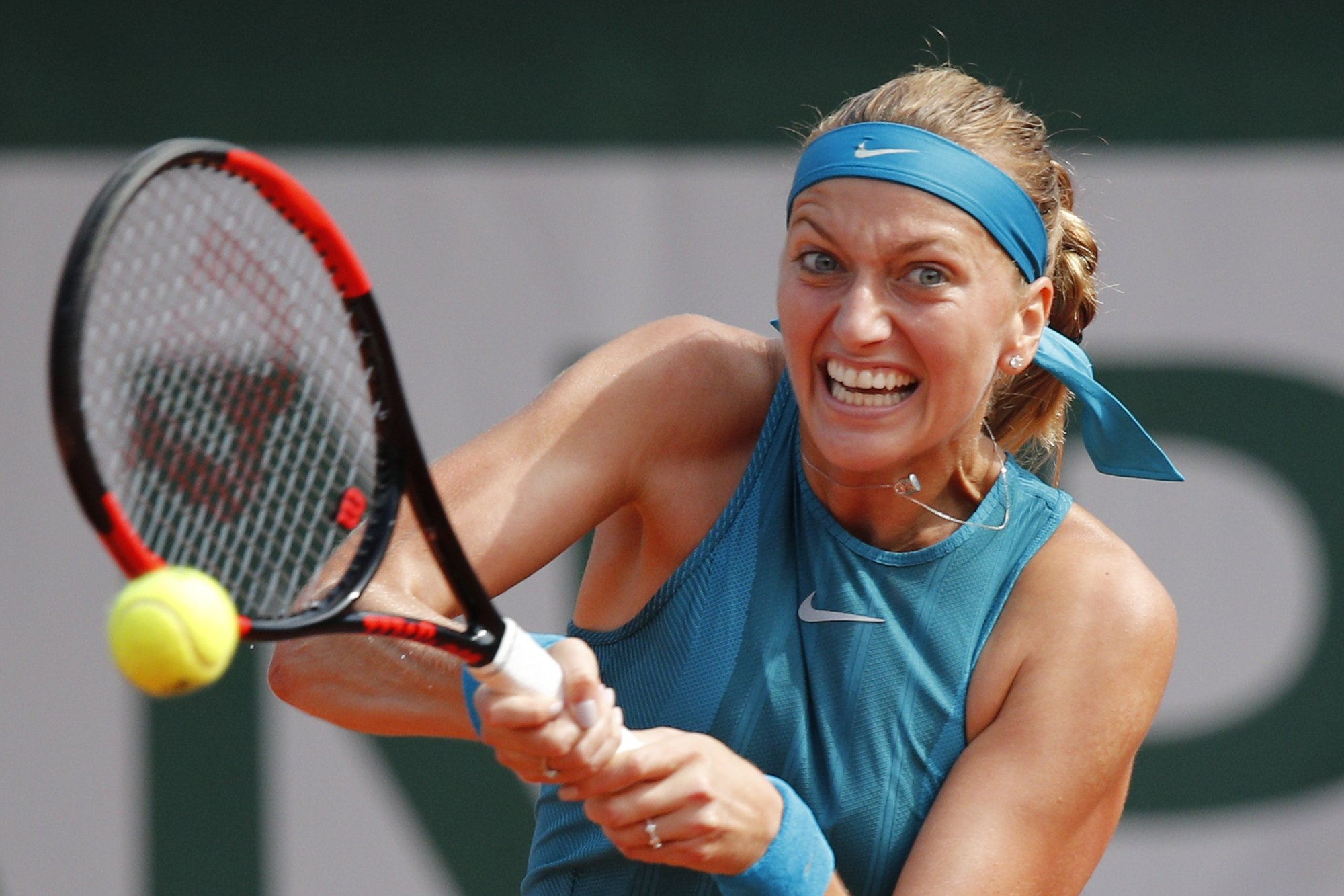 The Latest: 2-time Wimbledon champ Kvitova out of French