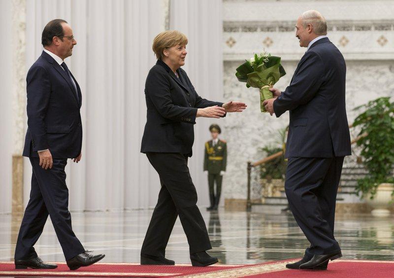 Angela Merkel, Francois Hollande, Alexander Lukashenko