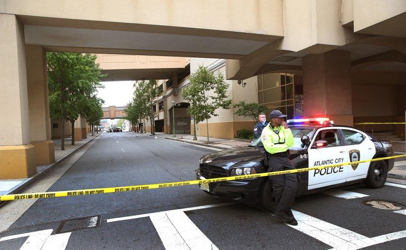 Officer critical after shooting near casino garage
