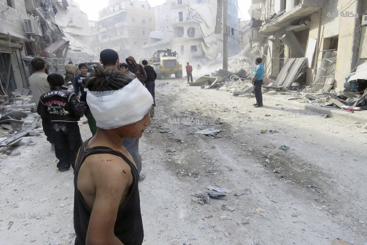 Airstrikes in Syria's besieged Aleppo kill more than 20