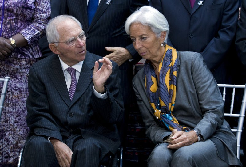 Christine Lagarde, Wolfgang Sch'uble,