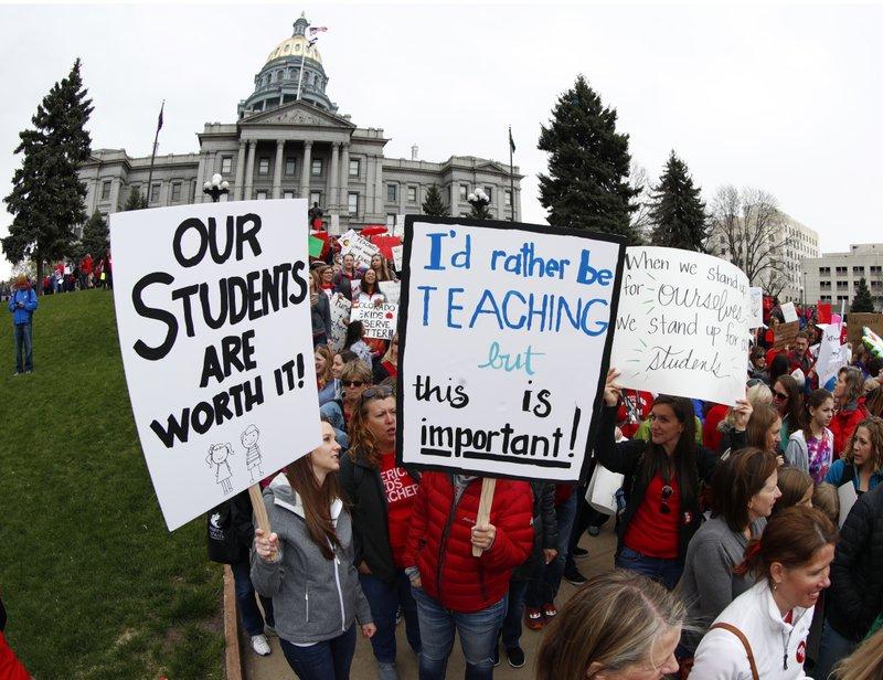 Teachers from Douglas, Jefferson counties of Colorado
