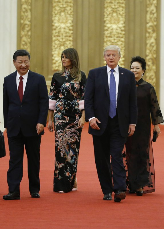 Donald Trump, Xi Jinping, Melania Trump, Peng Liyuan