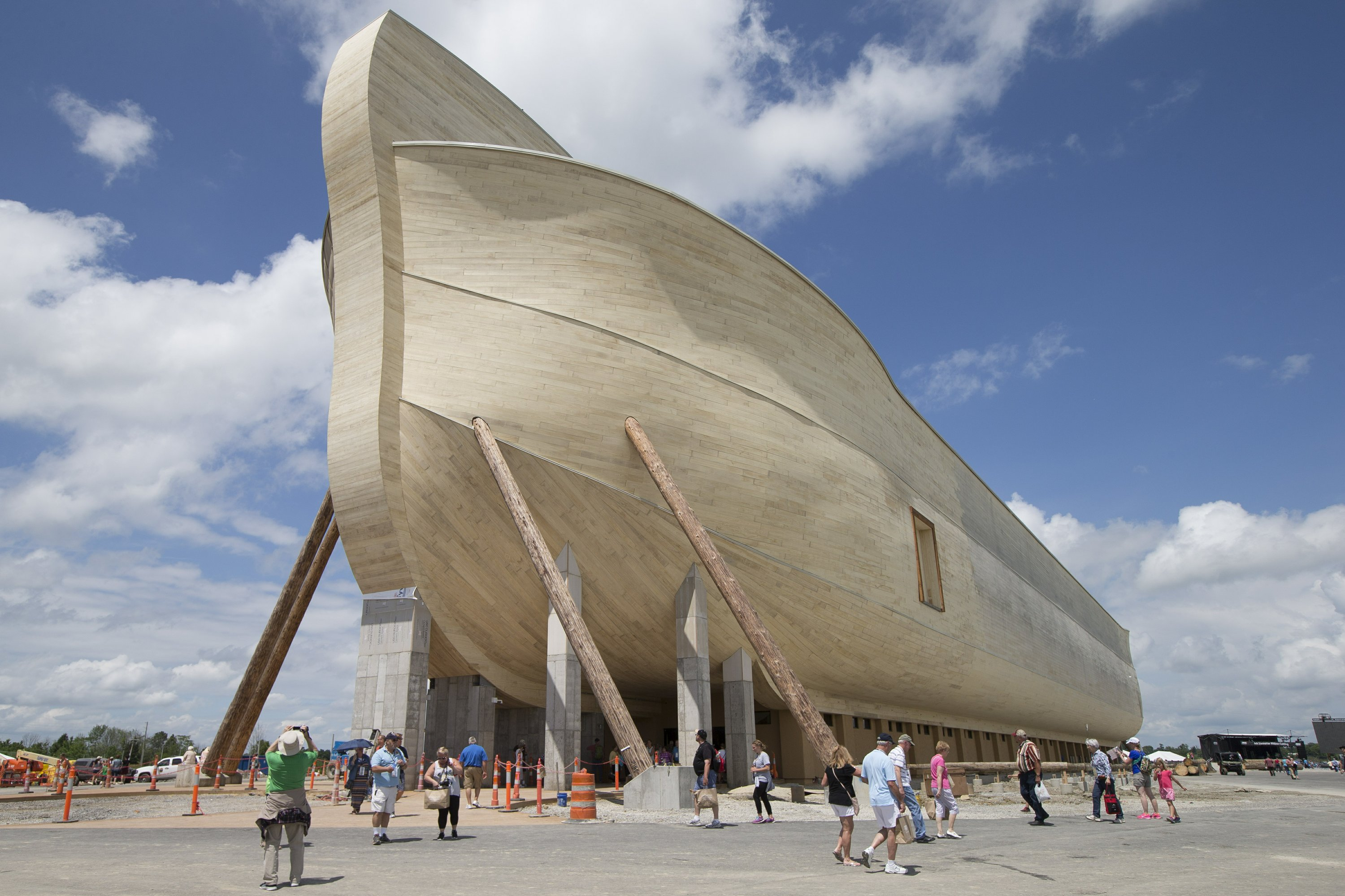 Bill Nye visits new Noah's ark attraction he criticized
