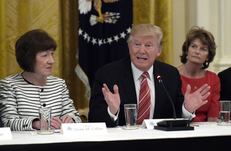 Donald Trump, Susan Collins, Lisa Murkowski