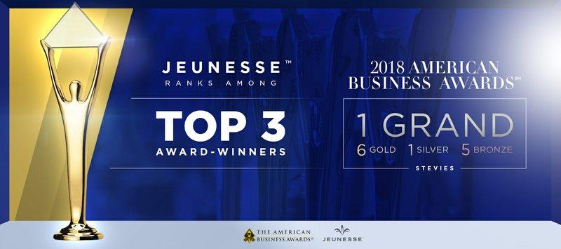 Jeunesse Global™ Ranks Among Top 3 Award-Winners in 2018 American Business Awards