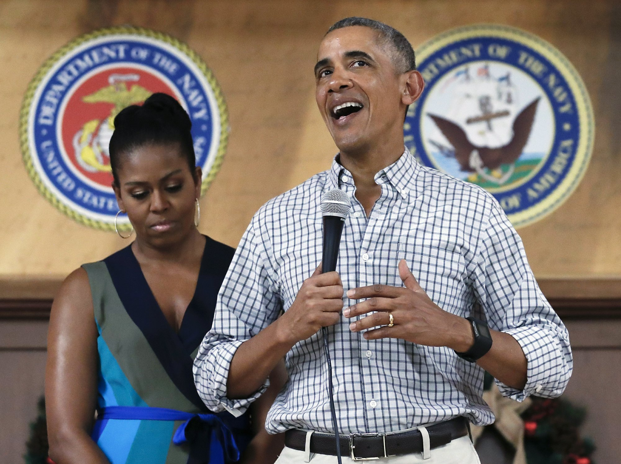 From Obama, a final Christmas tribute to the troops he's led
