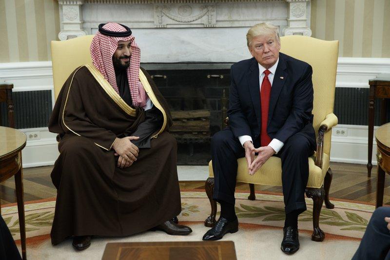 Donald Trump, Mohammed bin Salman bin Abdulaziz Al Saud