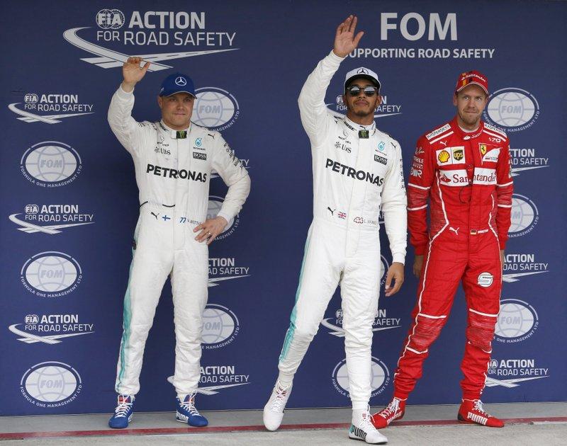 Lewis Hamilton Valtteri Bottas Sebastian Vettel