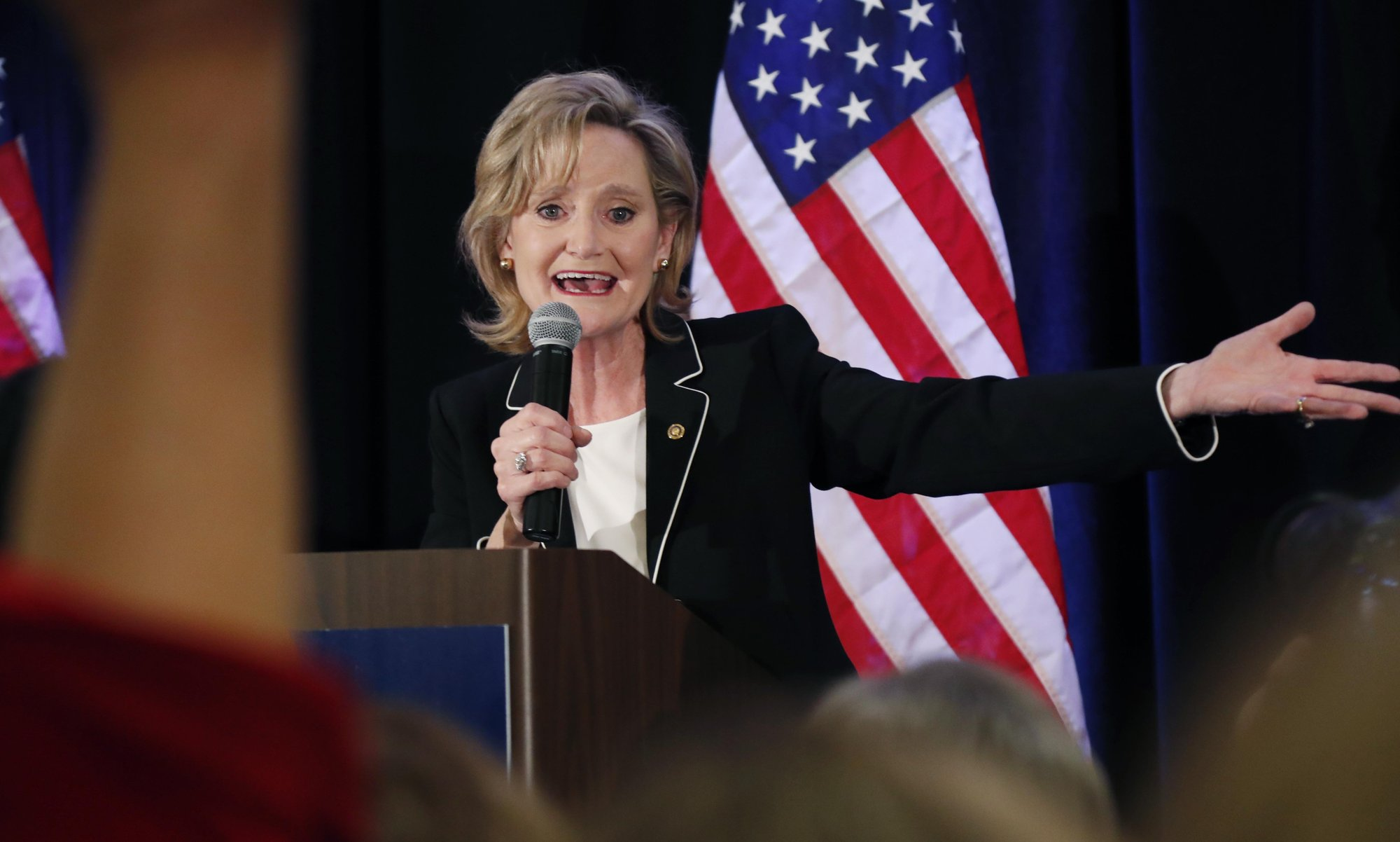 Divisive race ends with win for Republican Sen. Hyde-Smith