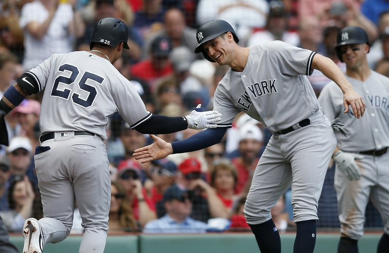 16898fc3b6 Yankees set HR record, beat Red Sox 8-5 for 100th win