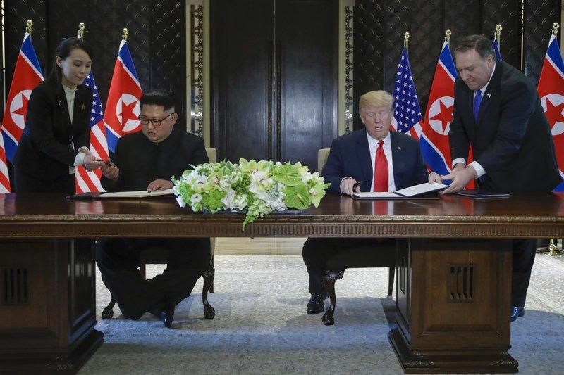 Donald Trump, Kim Jong Un, Kim Yo-jong