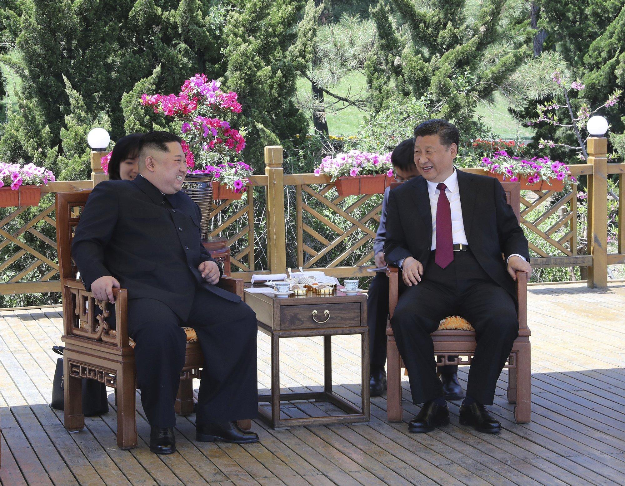 N. Korea's Kim meets China's president ahead of Trump summit
