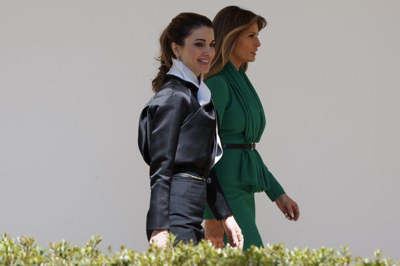 Donald Trump, King Abdullah II, Melania Trump, Queen Rania