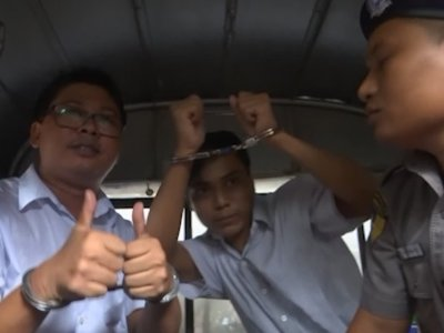 Myanmar court sentences two Reuters journalists