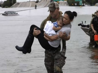 Scenes of Devastation and Heroism in Houston