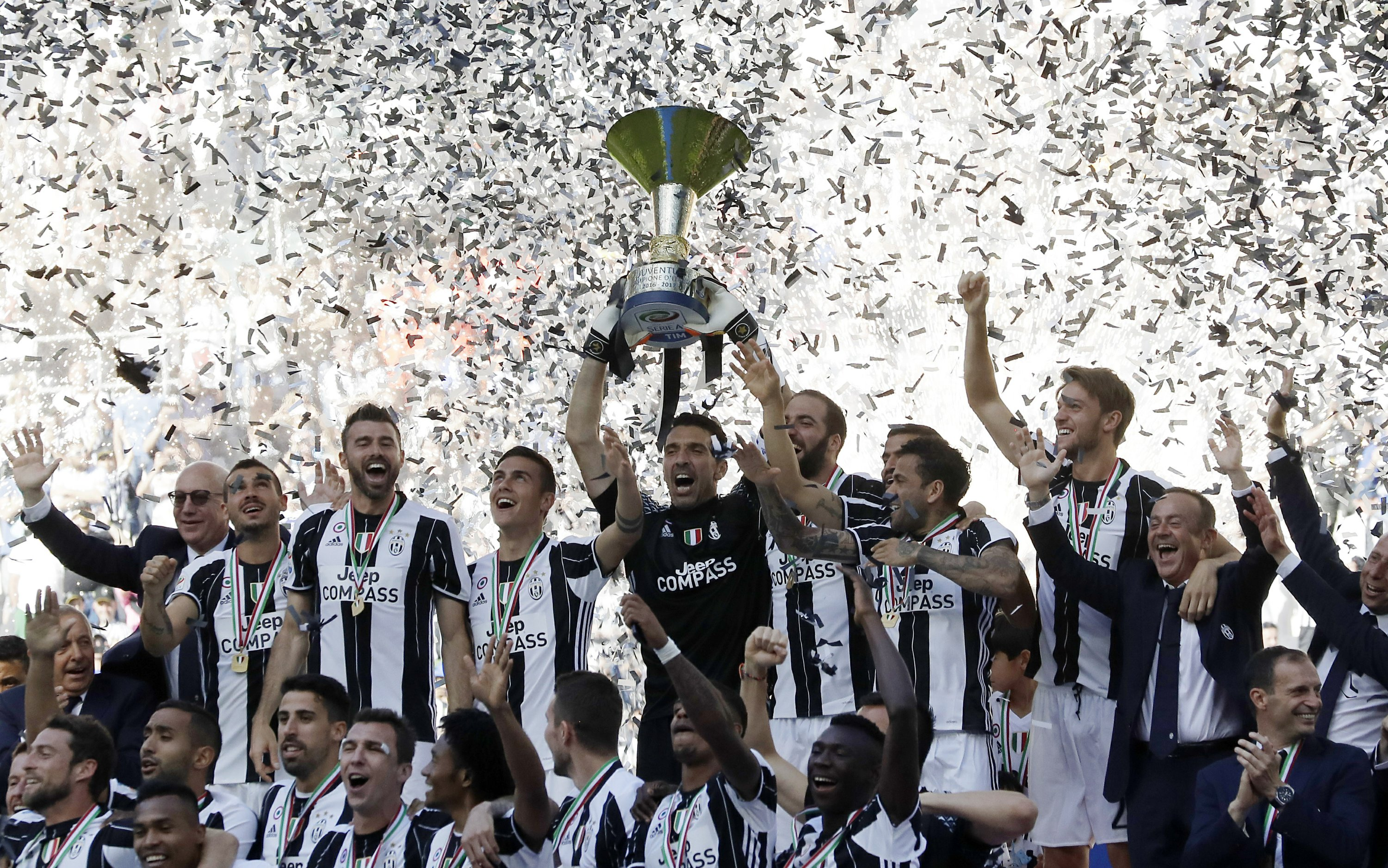 Image result for buffon trophy serie a