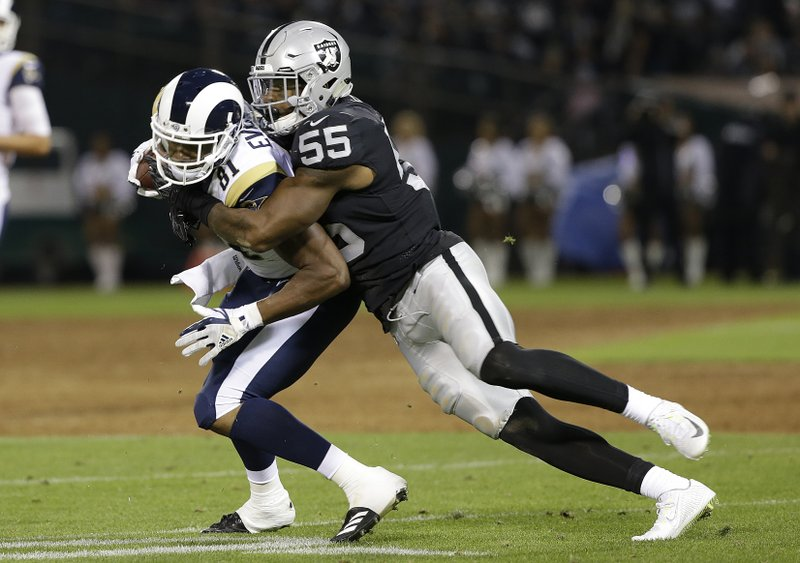 free shipping 2962f fd471 Raiders linebacker Marquel Lee steps up in training camp