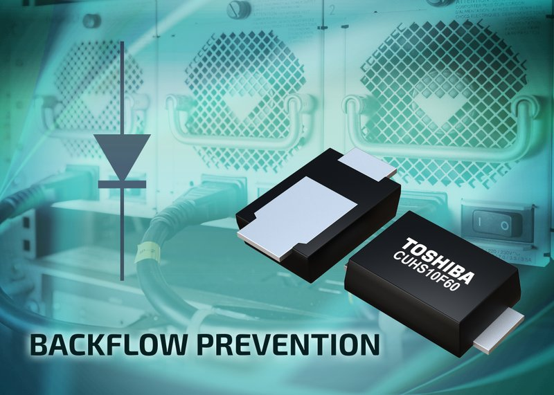 Toshiba Develops Low Reverse-Current Schottky Diode with Improved Thermal Performance