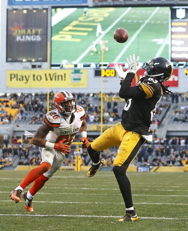 79f76c9ae9f Pittsburgh Steelers wide receiver Cobi Hamilton (83) makes the winning  touchdown catch during overtime of an NFL football game with Cleveland  Browns strong ...