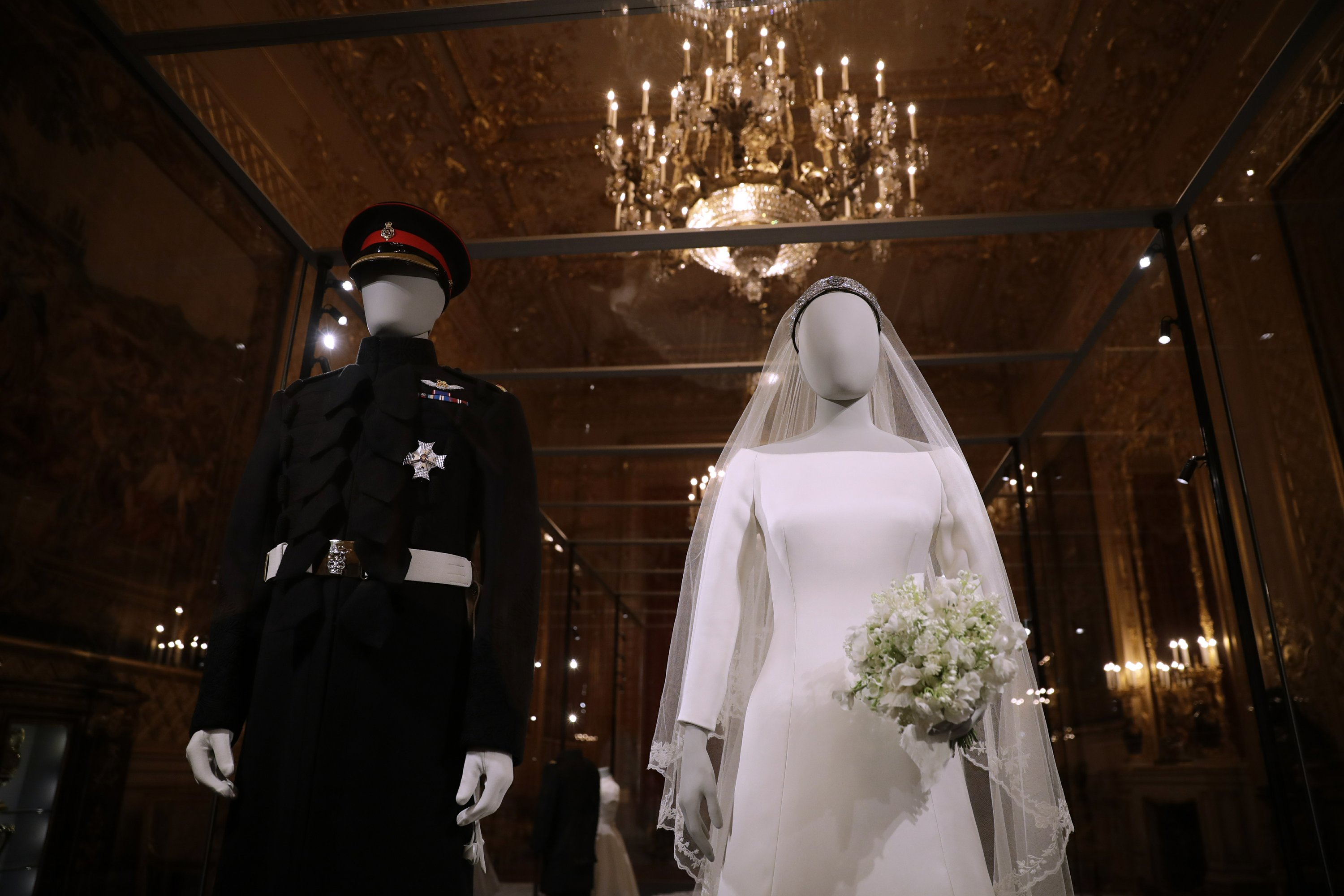Meghan's wedding gown goes on display at Windsor Castle