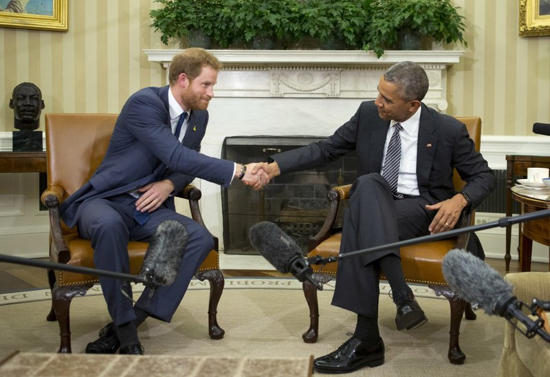 Barack Obama, Prince Harry