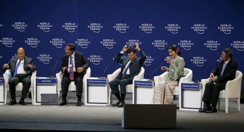 Nguyen Xuan Phuc, Hun Sen, Thongloun Sisoulith, Aung San Suu Kyi, Prajin Juntong