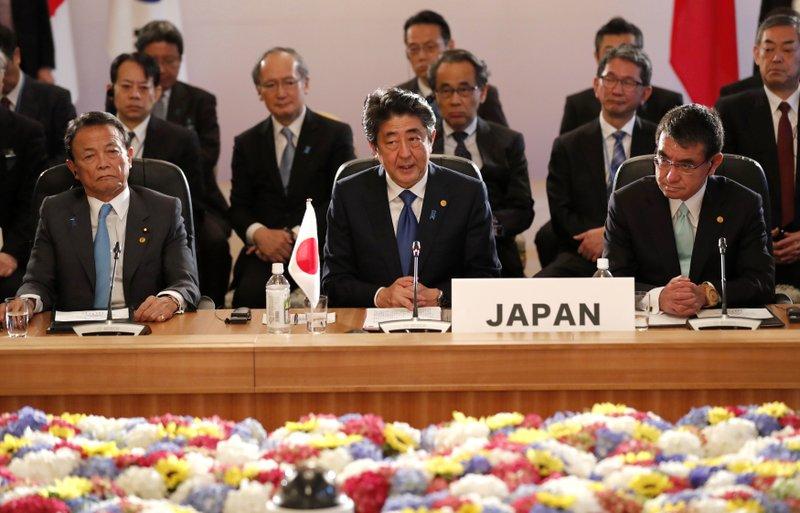 Shinzo Abe, Taro Aso, Taro Kono