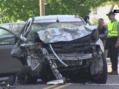 Driver Dies After SUV Crashes Into MBTA Bus