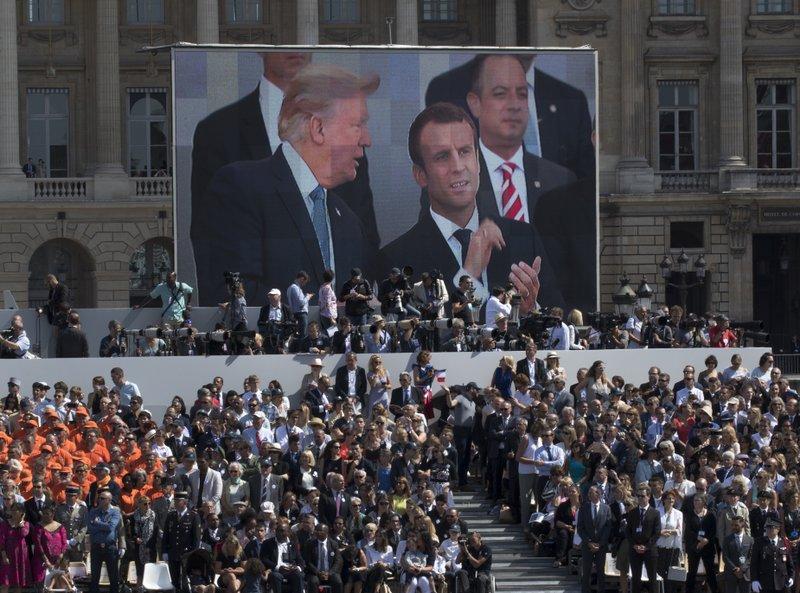Emmanuel Macron, Reince Priebus, Donald Trump