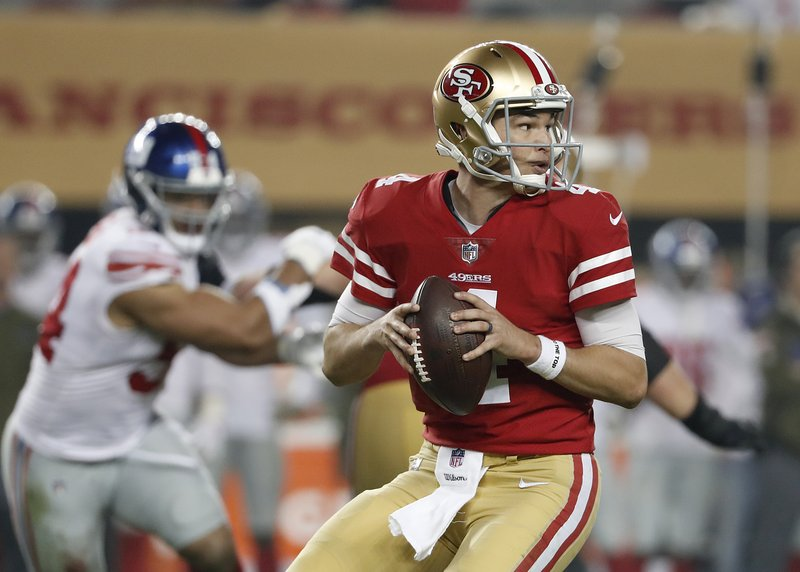 5dbe21469 Niners QB Nick Mullens is prepping for first road start