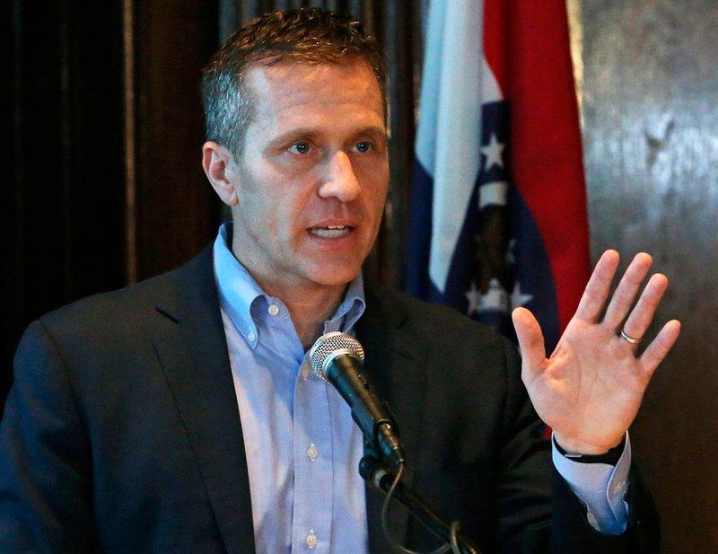 Missouri Gov Eric Greitens speaks at a