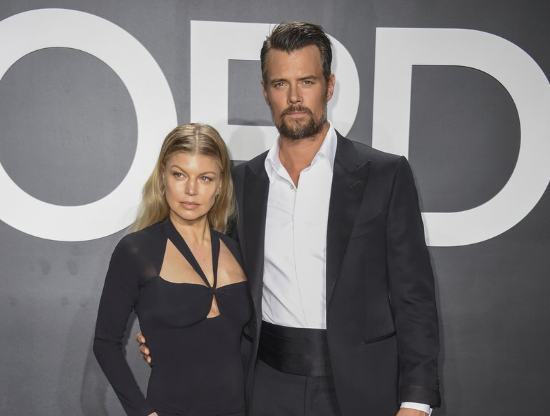 Fergie Duhamel, left, and Josh Duhamel