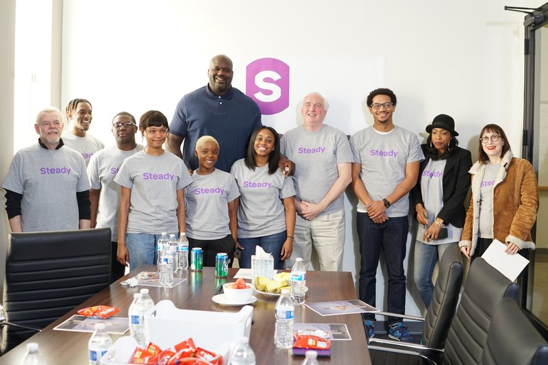 Shaquille O'Neal Joins Steady; Company Raises $9 Million in Series A Round of Funding from Leading Fintech Investors