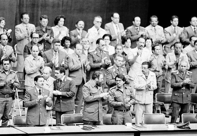Fidel Castro, Daniel Ortega, Raul Castro