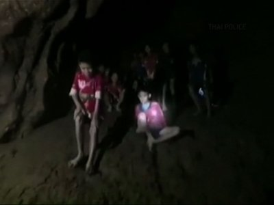 Video Shows Thai Soccer Team Alive in Cave