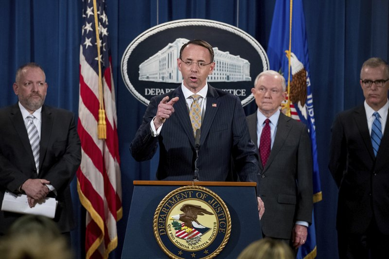 Jeff Sessions, Rod Rosenstein, Robert Patterson, Andrew McCabe