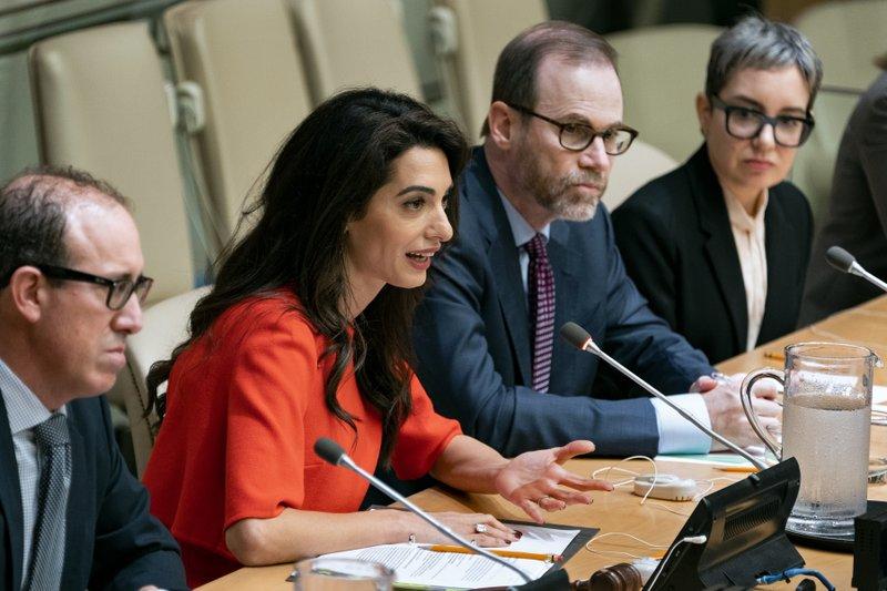 Amal Clooney: Pardon Reuters reporters jailed in Myanmar