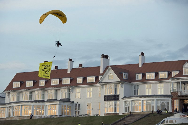 Man arrested in Scotland for paragliding over Trump golf course