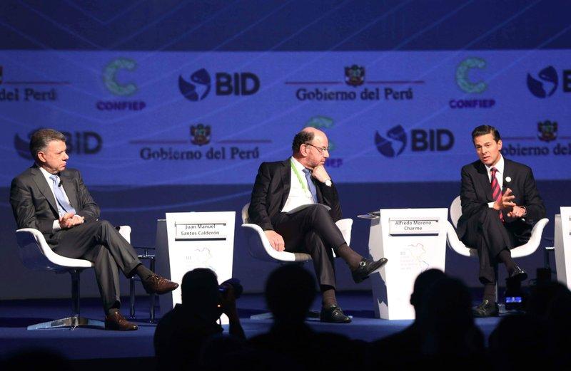 Enrique Pena Nieto, Juan Manuel Santos, Alfredo Moreno