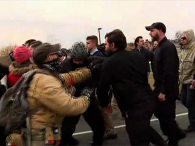Raw: Clashes as White Nationalist Visits MSU