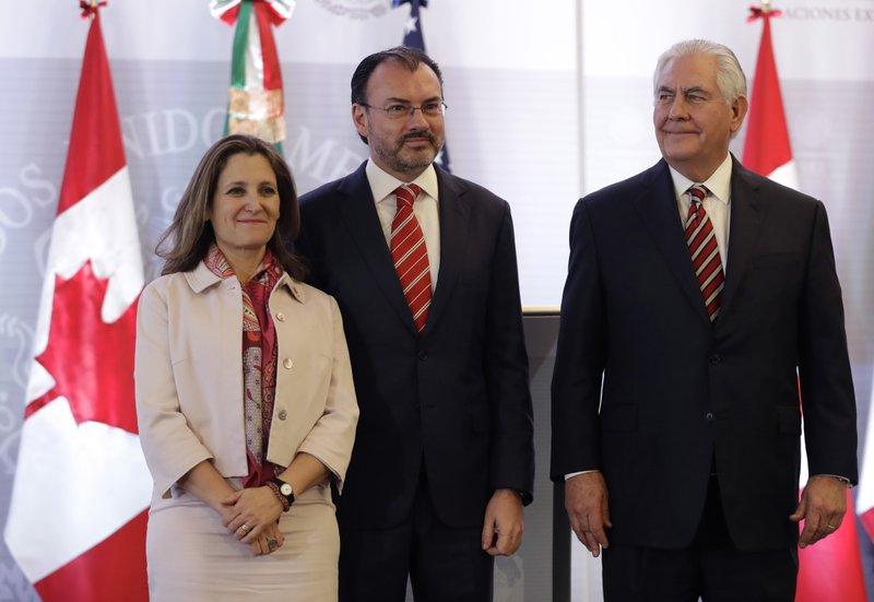 Rex Tillerson, Luis Videgaray, Chrystia Freeland