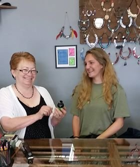 Betty Butters (L) with step-daughter Alyssa McClellan at the shop.jpg
